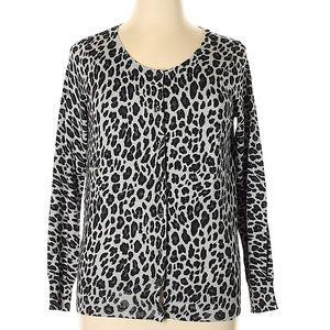 Lane Bryant grey/black animal print sweater 18/20
